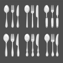 Cutlery set. Vector