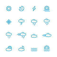 weather icons line