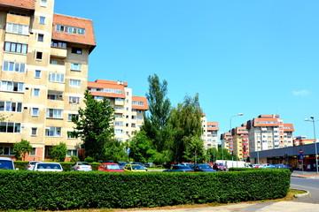 Typical urban landscape in Cvartal Racadau, in Brasov, Transylvania.
