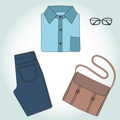 Set of clothing. Vector illustration