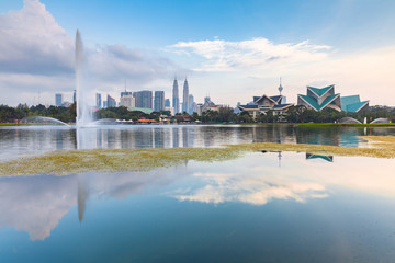 Foto op Aluminium Kuala Lumpur Kuala Lumpur skyline, Malaysia