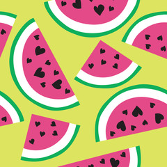 Seamless melon summer modern background pattern illustration