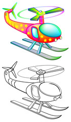 Colorful and black and white pattern 