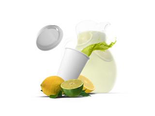 Limetten Smoothie und Karaffe