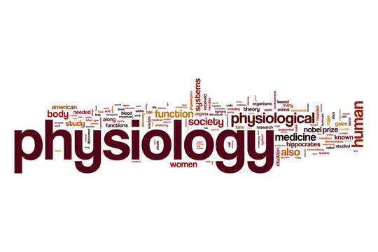 Physiology word cloud concept
