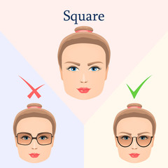 Glasses for square face