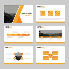 Business presentation templates, Infographic elements template flat design set for brochure flyer leaflet marketing advertising banner template