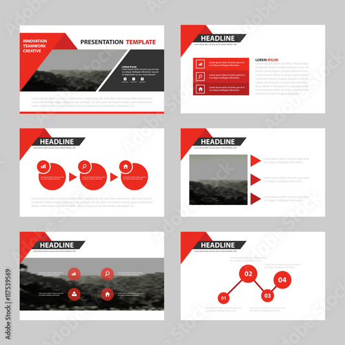 business presentation templates infographic elements template flat