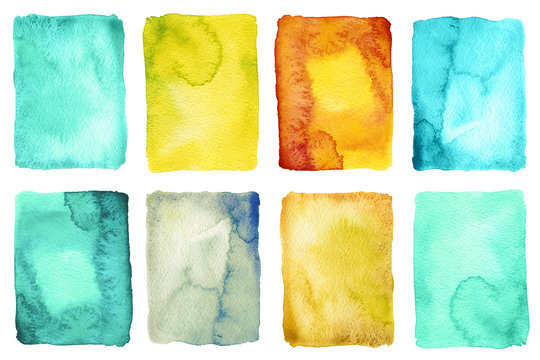 Abstract watercolor painted backgrounds