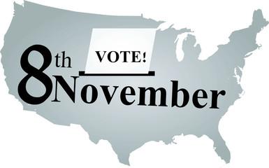 8th November vote day in USA