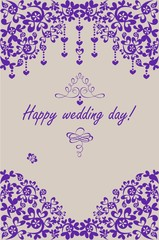 Beautiful wedding paper invitation