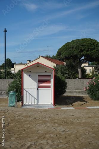 Caorle, Mittelmeer, Strand, WC, öffentliches WC, Badestand ...
