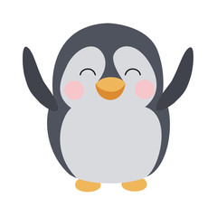 Cute happy penguin
