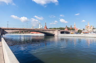 Bolshoy Moskvoretsky Bridge and Moscow Kremlin