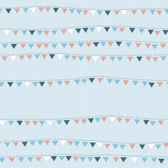 Seamless pattern with cute flags