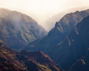 Foggy day, Waimea Canyon, Kauai, Hawaii, United States of America