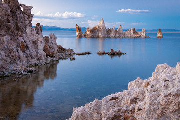 Rock formations, Mono Lake, Tufa Natural Reserve, California, United States of America