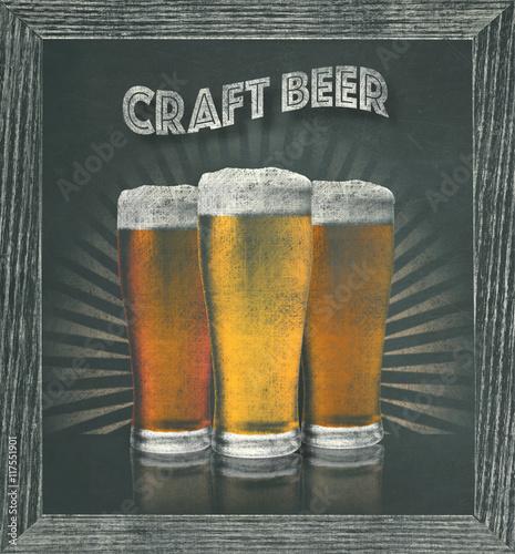 Craft beer sign on chalkboard artistic sign art sketch for Take craft beer back