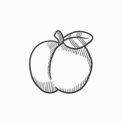 Apple sketch icon.
