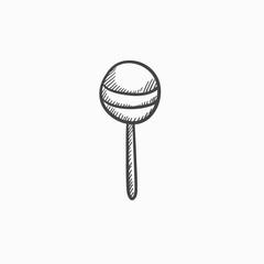 Round lollipop sketch icon.