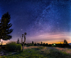 Milky way in polish mountains