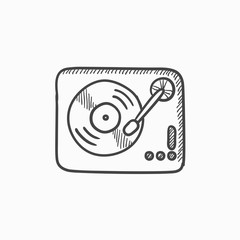 Turntable sketch icon.