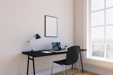 Working place at modern home