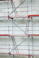 Scaffolding, construction site in progress