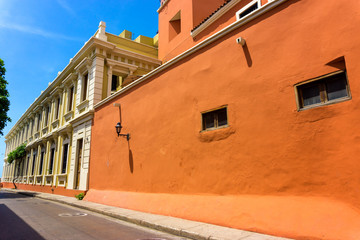 Fototapete - Orange Colonial Architecture