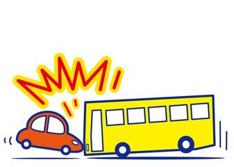 バスと乗用車 衝突事故