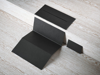 Black branding mockup. 3d rendering