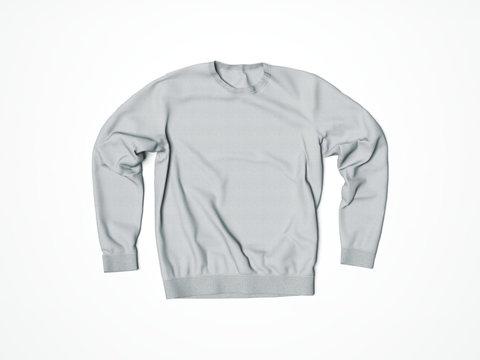 Gray hoody in white studio. 3d rendering