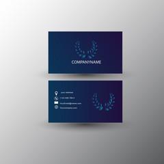 Business card, vector design