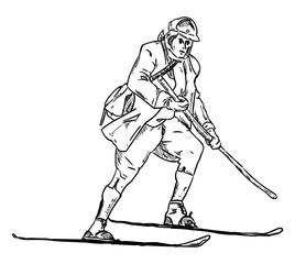 historic skiing