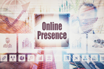 Business Online Presence collage concept