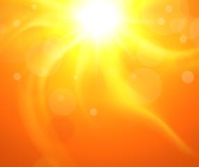 Orange bacground with glaring sun,