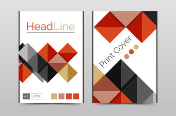 Geometric brochure front page