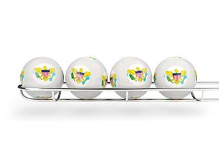 Flag of virgin islands us on lottery balls