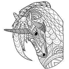 Unicorn line coloring