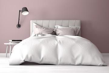 Schlafzimmer mit Bett, Doppelbett, Boxspringbett