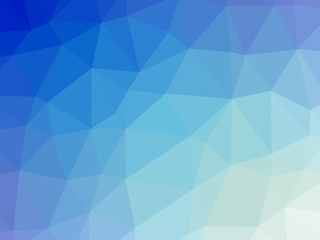 Blue white gradient abstract polygon shaped background
