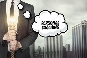 Personal coaching text on speech bubble