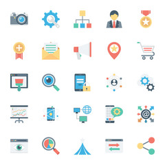 SEO and Internet Marketing Colored Vector Icons 2