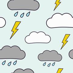 Rain with thunderstorm pattern