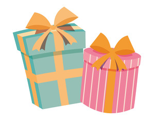 Geschenke Schachteln Vektor freigestellt