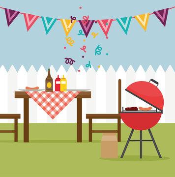 Gartenparty BBQ Grillparty