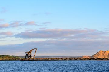 Multidocker at seashore