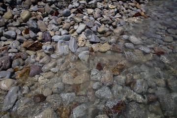 stones rock gravel on the beach