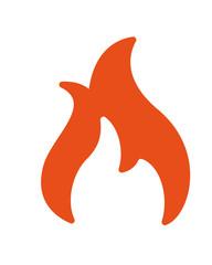 Feuer Icon Vektor freigestellt
