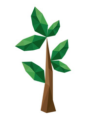 branch  low poly isolated icon design, vector illustration  graphic